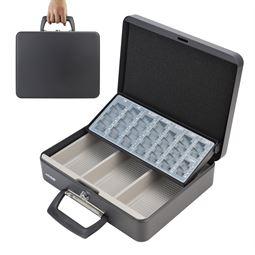 Geldkassette Tragegriff, HMF 10016, 30 x 24 x 9 cm