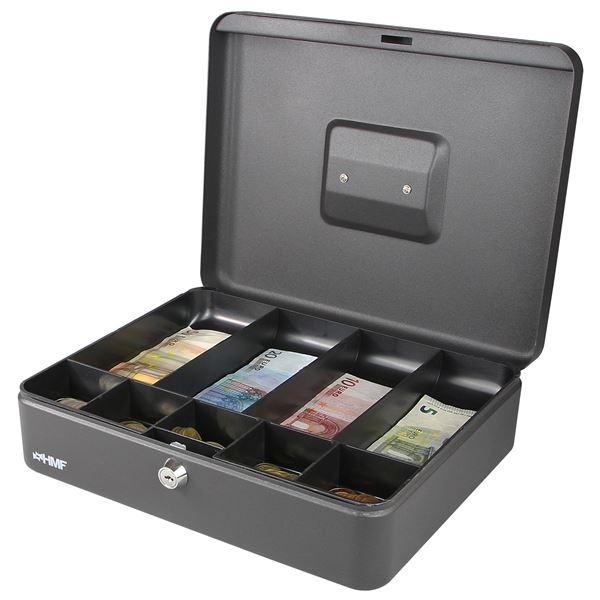 Geldkassette Münzeinsatz Scheinfächer, HMF 10019, 30 x 24 x 9 cm