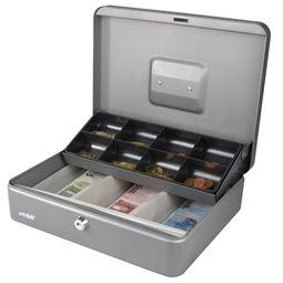 Geldkassette Marktkassette, HMF 15130, 30 x 24 x 9 cm silber