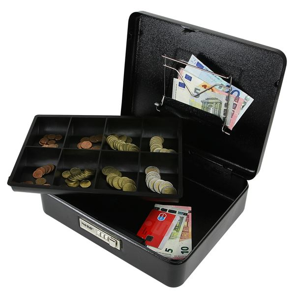 Geldkassette Zahlenkombinationsschloss, HMF 530, 30 x 24 x 9 cm #VarInfo
