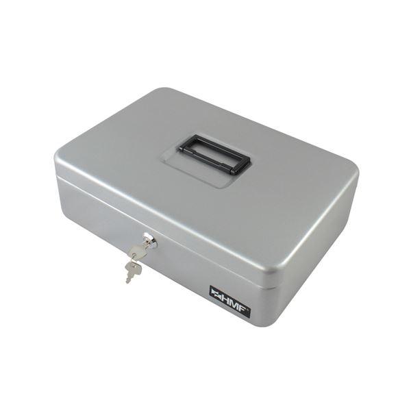 Geldkassette individuelle Facheinteilung, HMF 22036-09, 36 x 25 x 11 cm, silber