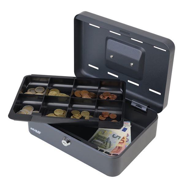 Geldkassette 8 Sparfächer, HMF 2088, 25 x 18 x 9 cm