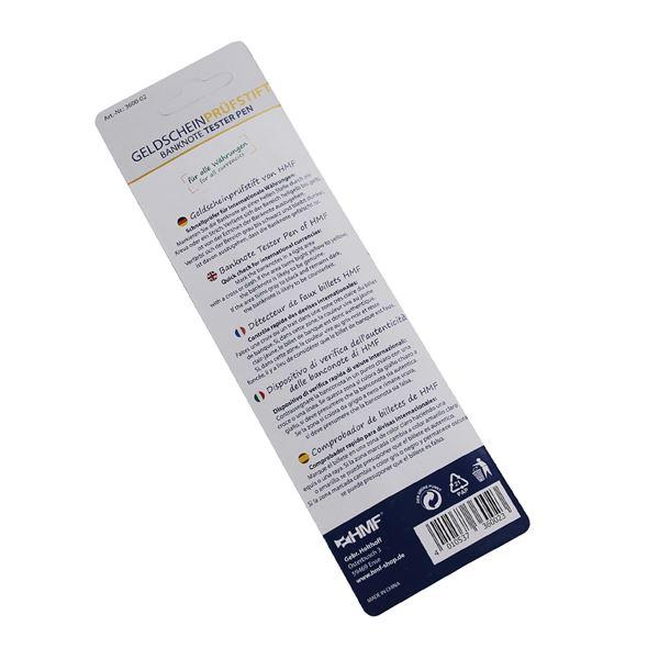Geldscheinprüfstift, Geldschein Schnelltester, 2 in 1 Geldprüfer inkl. Kugelschreiber, HMF 3600-02