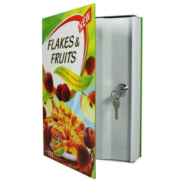 Geldversteck Müsli Flakes & Fruits Cornflakes, HMF 60936, 27 x 19 x 5,5 cm