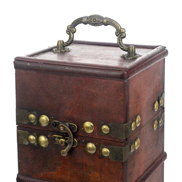 Holz Geschenkbox mit Deckel für Wein, Frankreich, HMF VWB-FRA-HF-01