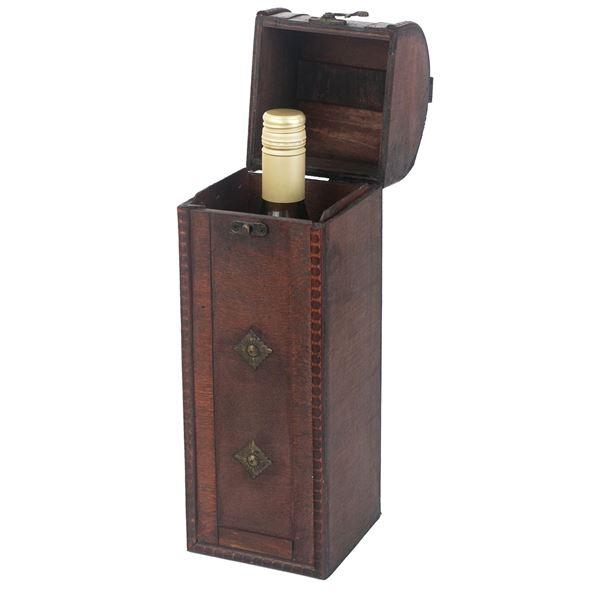 Holz Geschenkbox mit Deckel für Wein, Italien, HMF VWB-ITA-HF-01