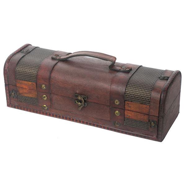 Holz Geschenkbox mit Deckel für Wein, Portugal, HMF VWB-PRT-QF-01