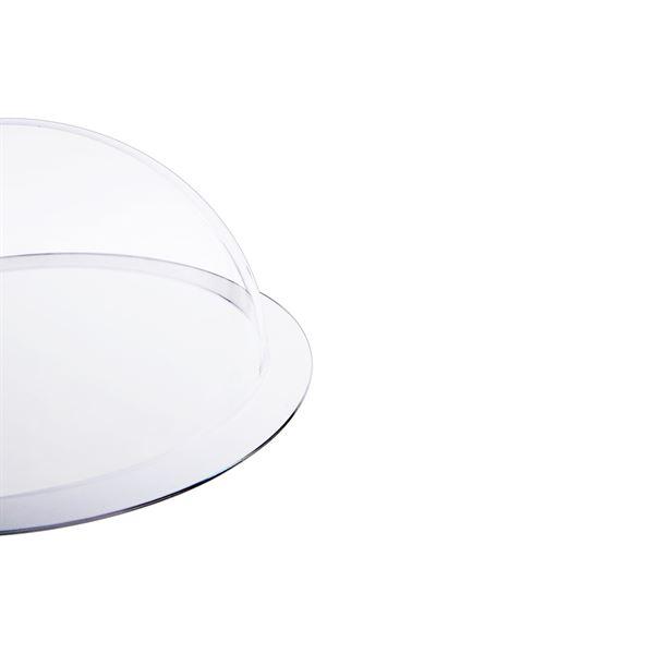 Halbkugel aus Acryl mit Krempe, HMF 46710, DIY Acrylhaube, Ø 10 cm