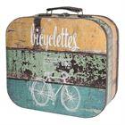 Holzkoffer im Vintage-Design, Fahrrad, HMF VKO206, 2er Set