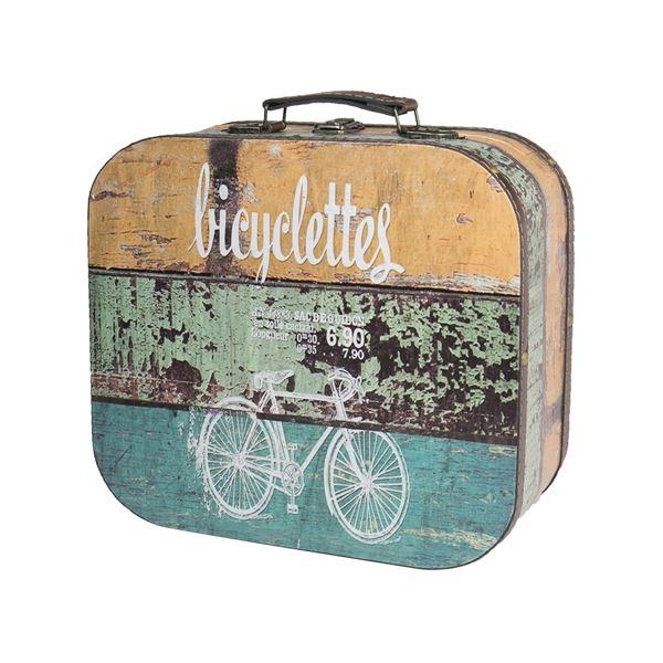 Holzkoffer im Vintage-Design, Fahrrad, HMF VKO206, verschiedene Größen
