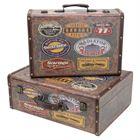 Holzkoffer im Vintage-Design, Garage, HMF VKO107, 2er Set