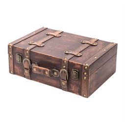 Holzkoffer im Vintage-Design, Klassik, HMF 6433, verschiedene Größen