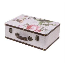 Holzkoffer im Vintage-Design, Rose, HMF 6432, verschiedene Größen