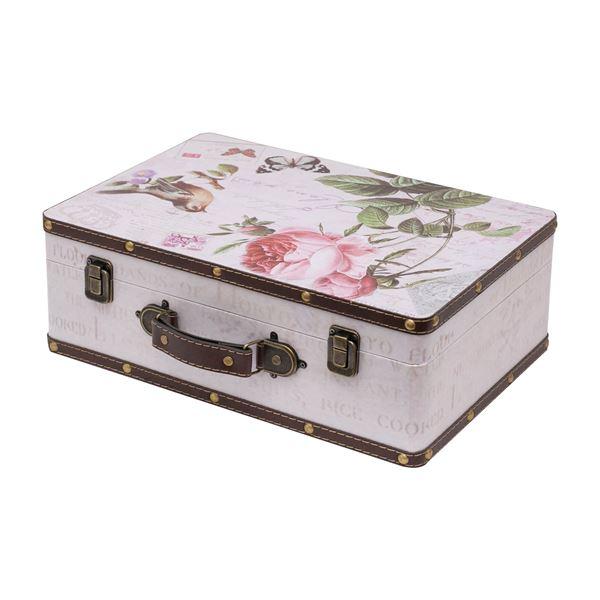 Holzkoffer im Vintage-Design, Rose, HMF VKO102, verschiedene Größen