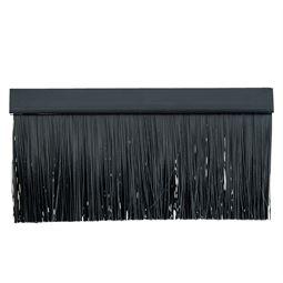 Kabeldurchführung mit Bürsteneinsatz für 19 Zoll Serverschrank, außen, HMF 65429 Schwarz