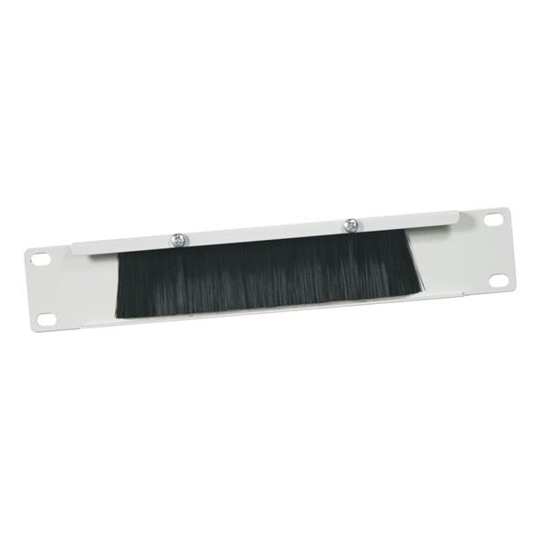 Kabeldurchführung mit Bürsteneinsatz für Serverschrank, HMF 63389-07, 10 Zoll, Lichtgrau