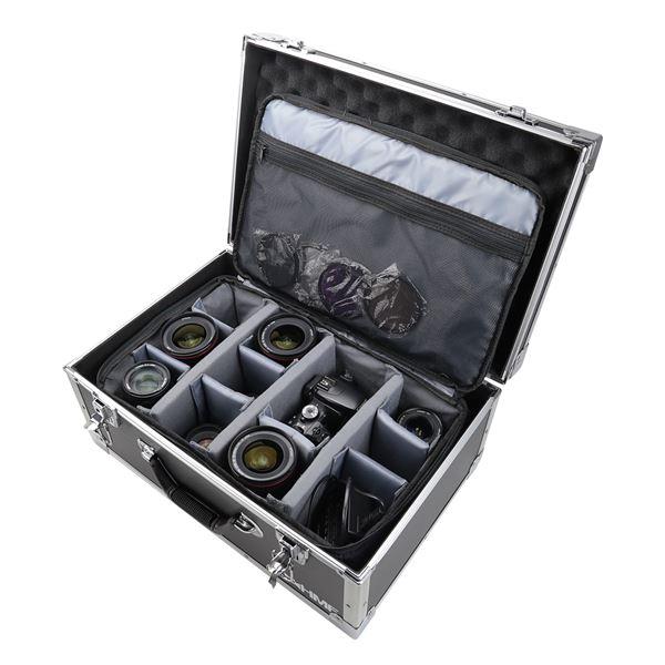 Fotokoffer, Kamera Transportkoffer inkl. Tasche mit individuellen Trennwänden, HMF 18440, 48 x 32 x