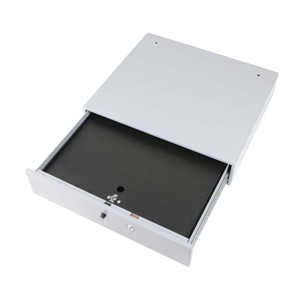 Kassenschublade, HMF 3290-07, 5 Schein- und Münzfächer, 45 x 42 x 10 cm, lichtgrau