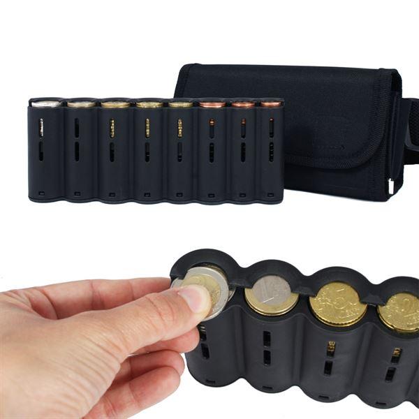 Kellnerbörse Euro-Münzsortierer Tragegurt, Reißverschlussfach, HMF 48811-02, 20,5 x 10 x 6,5 cm