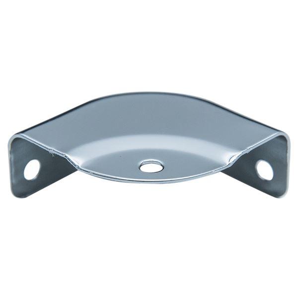 Runder Eckenschutz für Koffer, 8 Stück, HMF 14960-09, 32 x 32, Silber verzinkt