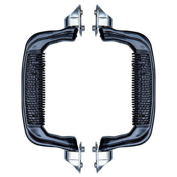Koffergriff 2er Set, HMF 14972-02, 19 x 7 cm, schwarz
