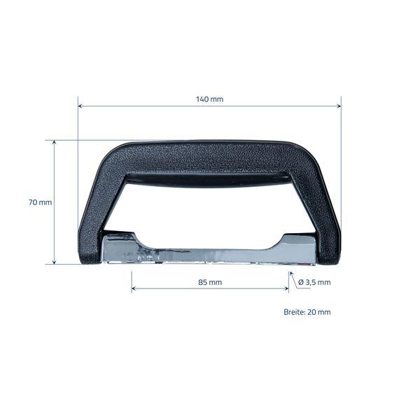 Koffergriff 2er Set, HMF 14973-02, 14 x 7 cm, schwarz