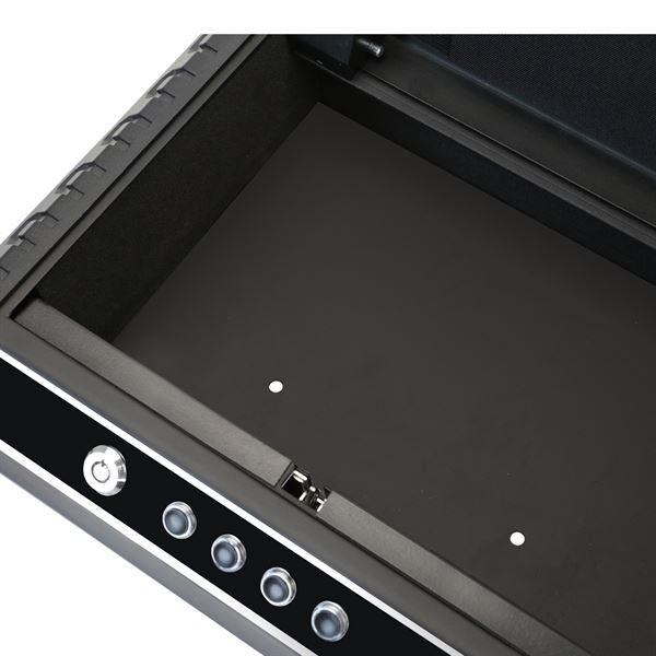 Kompakttresor Elektronikschloss, Pistolentresor, HMF 49701-02, 37 x 27,5 x 10 cm, schwarz