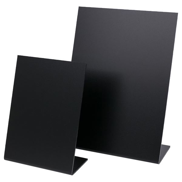 Tischaufsteller Kreidetafel, HMF 4643, Hochformat, L-Ständer, schwarz