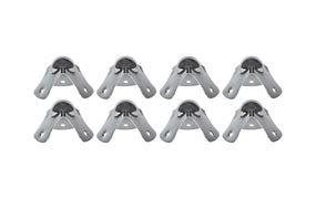 Kugelecken, 8 Stück, HMF 14950-09, 49 mm, Silber
