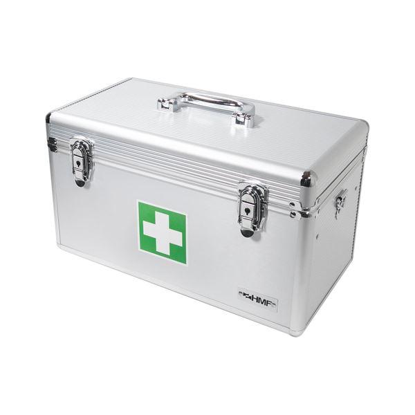 Medizinkoffer, Erste Hilfe Koffer, Aluminium, HMF 14701-09, 40 x 22,5 x 20,5 cm, silber
