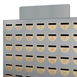Metallaufsatz zur Beschriftung von Sparschränken, HMF 10540-09