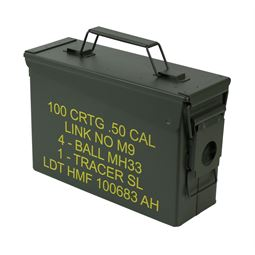 Munitionskoffer, US Ammo Box, Metallkiste, HMF 70010, 27,5 x 17,5 x 9,5 cm, grün