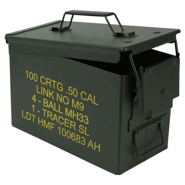 Munitionskoffer, US Ammo Box, Metallkiste, HMF 70011, 30 x 19 x 15,5 cm, grün