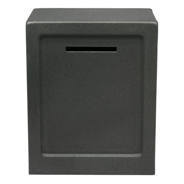 Minitresor Zahlenkombinationsschloss, HMF 306, 13,5 x 11 x 8 cm silber