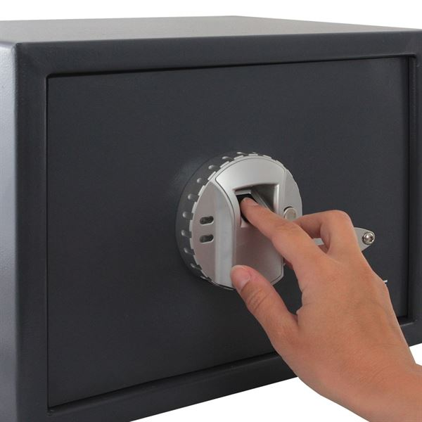 Möbeltresor Fingerabdruckscan, HMF 49123, 35 x 25 x 25 cm, anthrazit