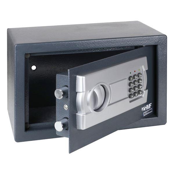 Möbeltresor Elektronikschloss, HMF 4612212, 35 x 25 x 25 cm, anthrazit