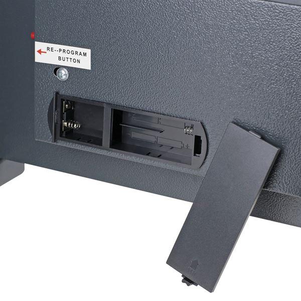 Möbeltresor Elektronikschloss, HMF 4612312, 38 x 30 x 30 cm, anthrazit