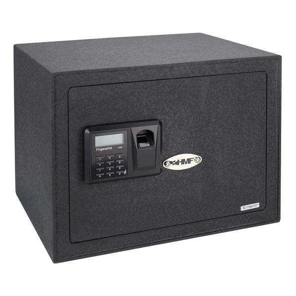 Möbeltresor Elektronikschloss, Fingerabdruckscan und Schlüsselschloss, HMF 49123, 38 x 30 x 30 cm