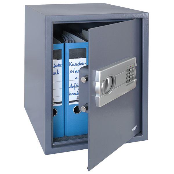 Möbeltresor Elektronikschloss, HMF 4612812, 36 x 48 x 37 cm, anthrazit