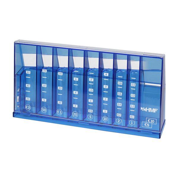 Münzsortierer Spardose, HMF 4710-05, 24 x 12 x 5 cm, blau