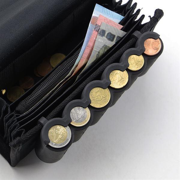 Euro-Münzsortierer, 15,5 cm, HMF 48821-02, für Kellnerbörse, schwarz