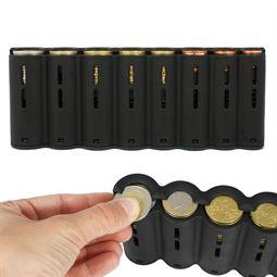 Euro-Münzsortierer, 20,5 cm, HMF 48820-02, für Kellnerbörse, schwarz