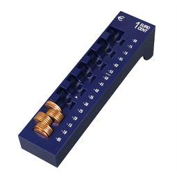 Münzrille 1 Cent, HMF 3101-05, 17,5 x 4 x 4,5 cm, blau
