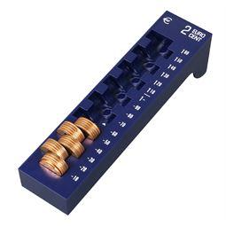 Münzrille 2 Cent, HMF 3102-05, 17,5 x 4 x 4,5 cm, blau