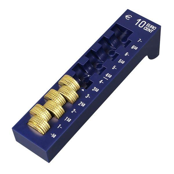 Münzrille 10 Cent, HMF 3104-05, 17,5 x 4 x 4,5 cm, blau