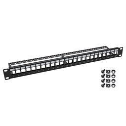 UTP Keystone-Patchpanel für Serverschrank, HMF 66445, 24 Ports, 19 Zoll