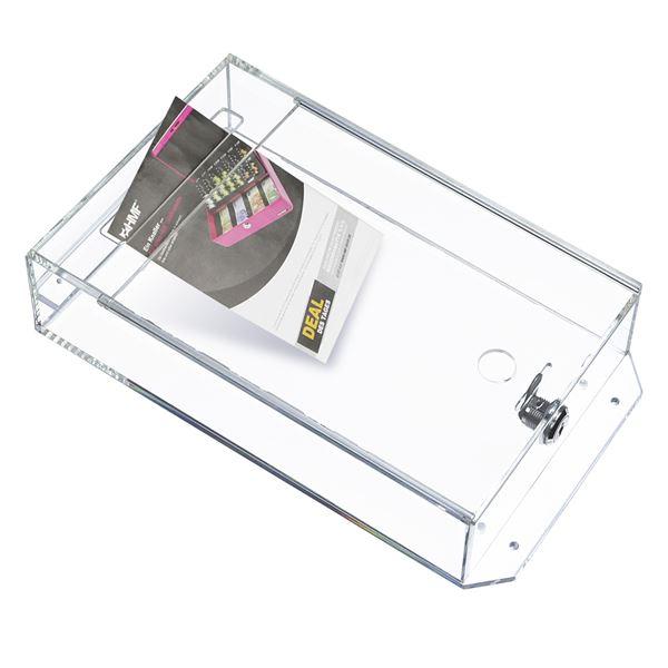 Spendenbox Acryl Pfandmarkenbox, Meckerkasten, HMF 46918, 31,5 x 18 x 7 cm