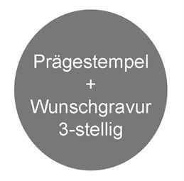 Prägestempel inkl. Gravur für Plombenzange, HMF 45801, 13 cm, blau