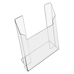 Prospektständer, Prospekthalter DIN A4 Acryl, HMF 46962, 22,2 x 30 x 9,5 cm