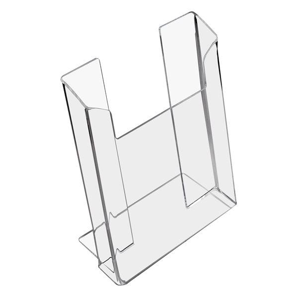 Prospektständer, Prospekthalter DIN A5 Acryl, HMF 46961, 15,7 x 21 x 8 cm